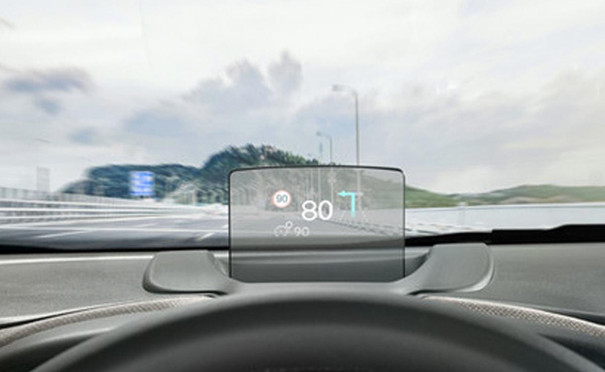 C3 aircross - prosojni zaslon za prikaz podatkov