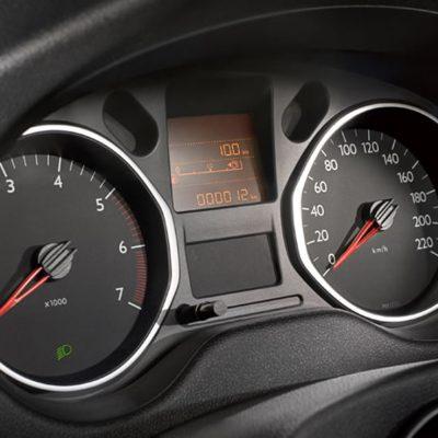 Citroën C-Elysee - pogled na ploščo s števci