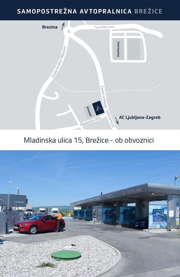 Samopostrežna avtopralnica Avtoline - Brežice