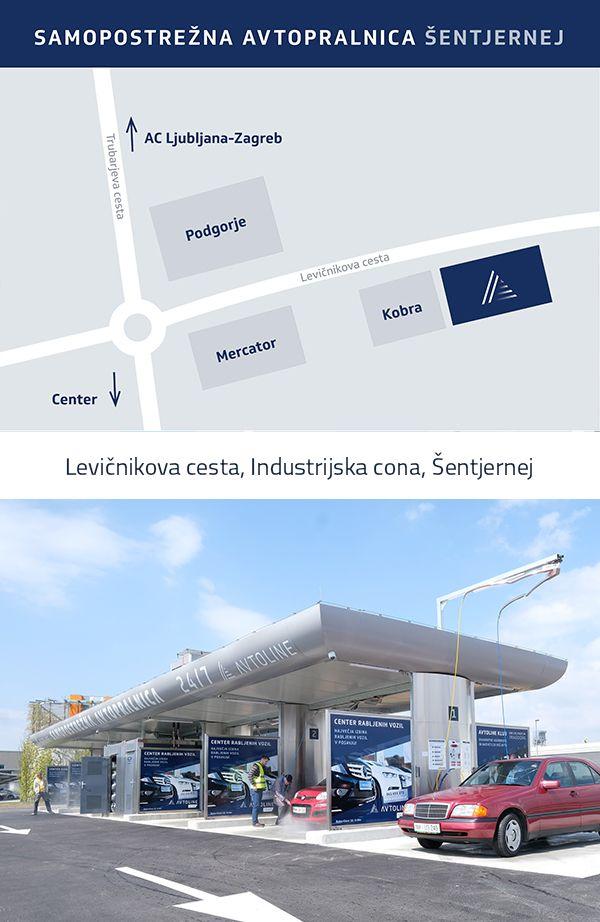 Samopostrežna avtopralnica Avtoline - Šentjernej